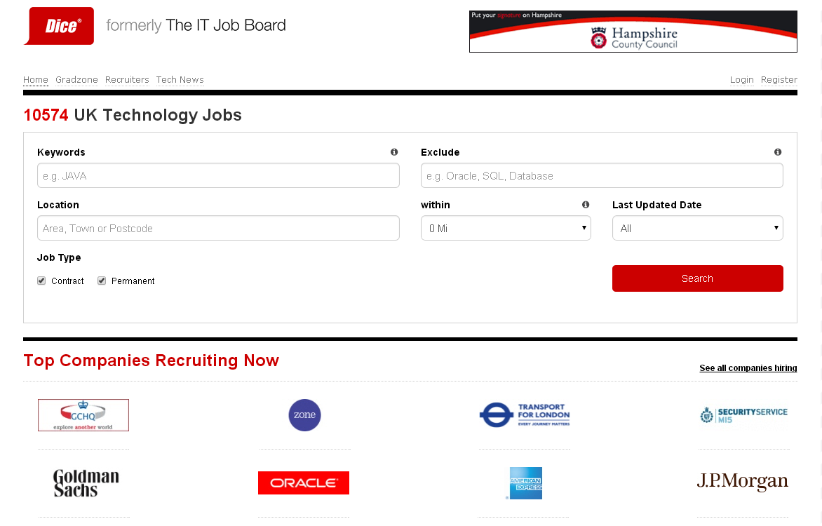 dice expands offerings through rebrand of the it job board the it job board home page