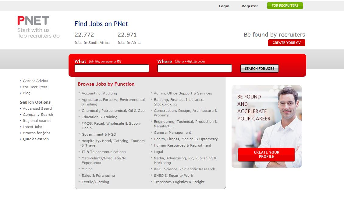 Interview with PNet, one of the leading job sites in South Africa ...