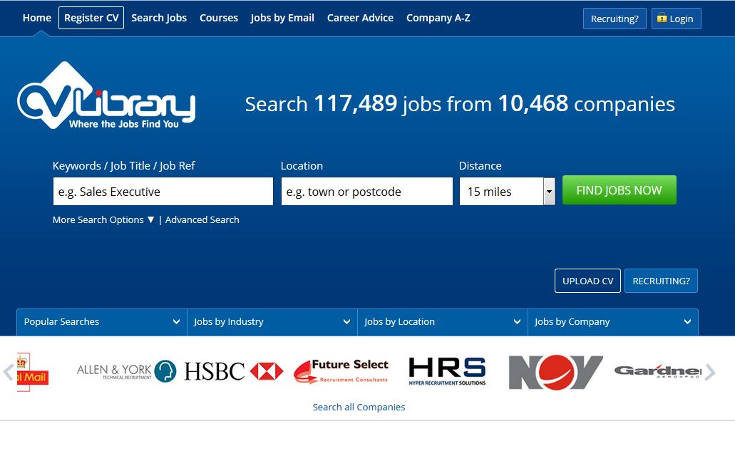 top 5 of the most visited job sites in the uk