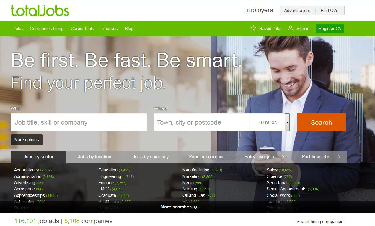top of the most ed job sites in the uk jobboard finder news totaljobs com was founded in 1999 and is part of the totaljobs group which owns several job sites around the world such as stepstone