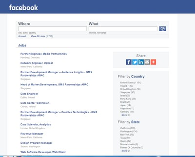 facebook jobs page