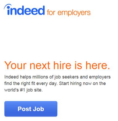 Indeed Post a job
