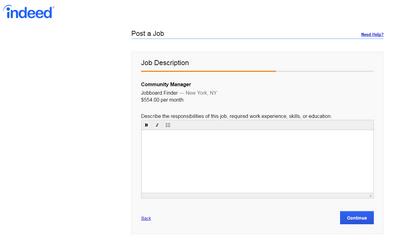 Job description Indeed