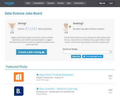 Kaggle job board