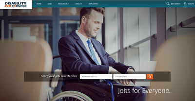 disability job exchange homepage