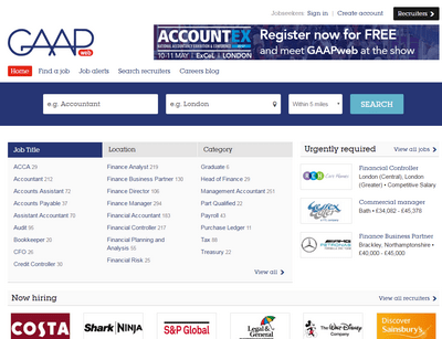 gaap web homepage