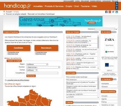 handicap.fr homepage
