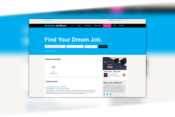 Mashable Job Board